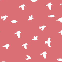 Flock Silhouette in Dahlia