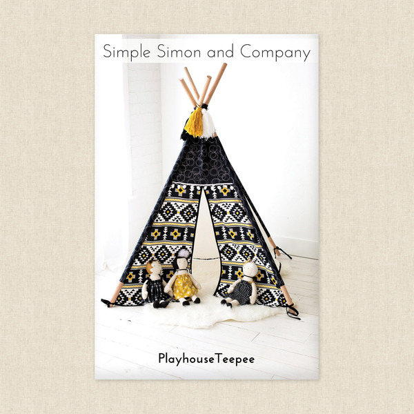 Playhouse Teepee Sewing Pattern by Simple Simon and Company at ...