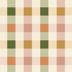 Easter Gingham in Muted Rainbow