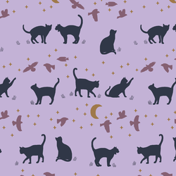 Small Nocturne Alley Cats in Lilac