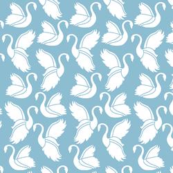 Swan Silhouette in Breeze