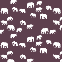 Elephant Silhouette in Raisin