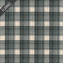Mammoth Optical Plaid Flannel in Smoke