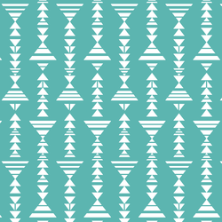 Little Tribal Stripe in Seafoam