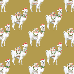 Little Festive Llama in Gold