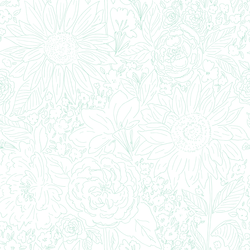 Paperie in Aqua on White