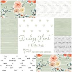 Darling Heart Fat Quarter Bundle in Light Sage