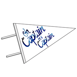 Oh Captain Pennant Panel in White