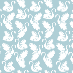 Swan Silhouette in Powder Blue