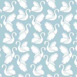 Swan Silhouette in Powder Blue