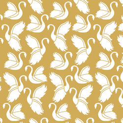 Swan Silhouette in Straw