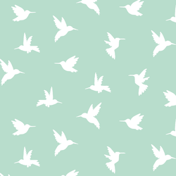 Hummingbird Silhouette in Mint