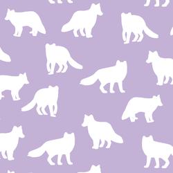 Fox Silhouette in Lilac