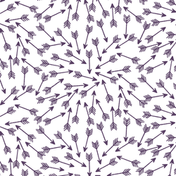 Arrows in Aubergine on White