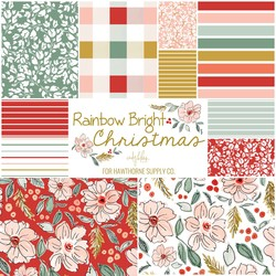Rainbow Bright Christmas Fat Quarter Bundle Large Scale