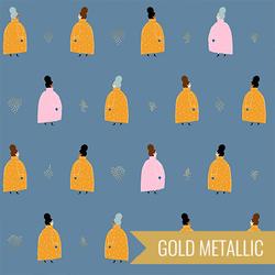Coat Ladies in Denim Metallic
