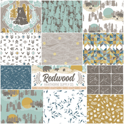 Redwood Fat Quarter Bundle in Lake