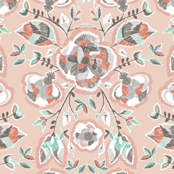 Stitch Floral in Shell