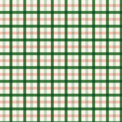 Plaid in Peach and Green
