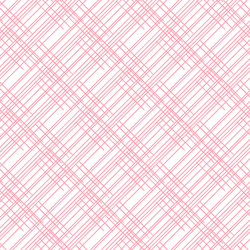 Thatched in Rose Pink on White