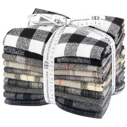 Mammoth Flannel Fat Quarter Bundle in Black