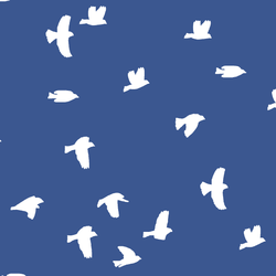 Flock Silhouette in Blue Jay