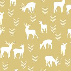 Deer Silhouette in Honey