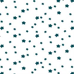 Star Light in Juniper on White
