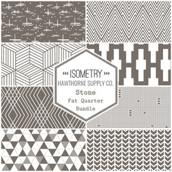 Isometry Fat Quarter Bundle in Stone