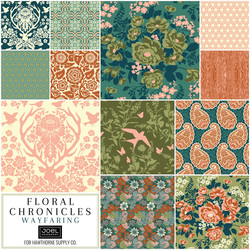 Floral Chronicles Fat Quarter Bundle in Wayfaring