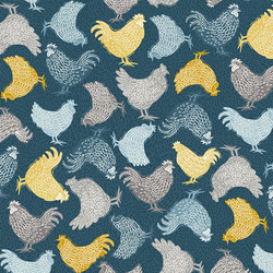 Chickens in Blue