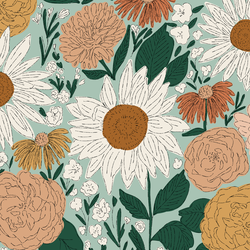 Big Juliet Florals in Darling
