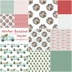 Winter Buddies Fat Quarter Bundle Little Scale