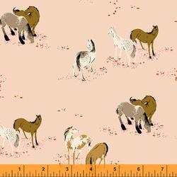 Horse Field in Dusty Pink