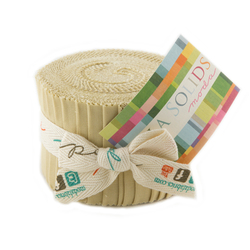 Bella Solids Junior Jelly Roll in Parchment