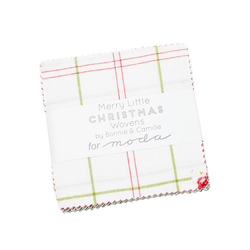"""Merry Little Christmas Wovens 5"""" Square Pack"""