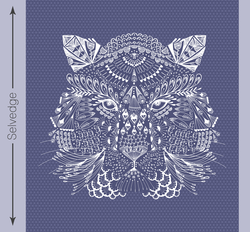 Bengal Quilt Panel in Indigo