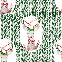 Fancy Holiday Deer in Wintergreen