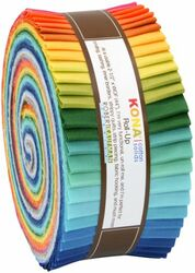 """Kona Solid 2.5"""" Strip Roll in Summer 2013"""