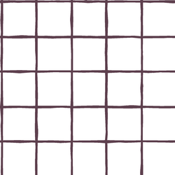Windowpane in Raisin on White