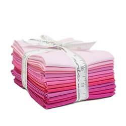 Bella Solids Fat Quarter Bundle in Pink