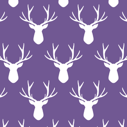 Stag Silhouette in Ultra Violet