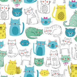 Kitty Cats in Blue