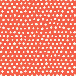 Polka Dots in Warm Red