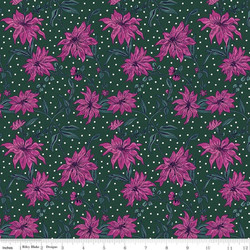 Poinsettia in Pink and Green