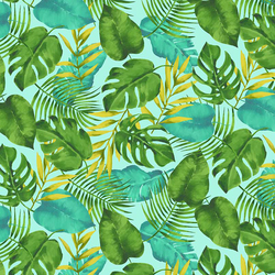 Paradise Palm in Aqua