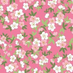 Safari Floral in Pink Metallic