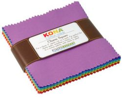 """Kona Solid 5"""" Square Pack in Bright"""