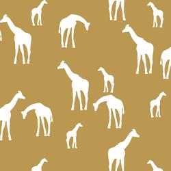 Giraffe Silhouette in Marigold