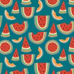 Little Rainbow Melon in Summer Days